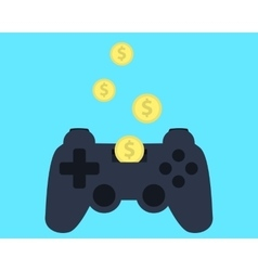 Investment in video games vector