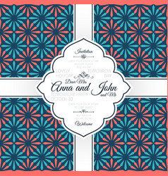 Invitation card with vintage spanish pattern vector