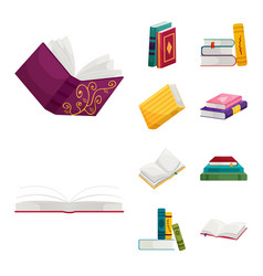 Isolated object library and bookstore symbol vector