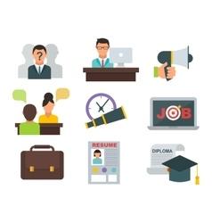 Job search icons set vector image