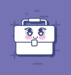 kawaii briefcase icon vector image
