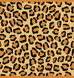 leopard seamless texture imitation vector image