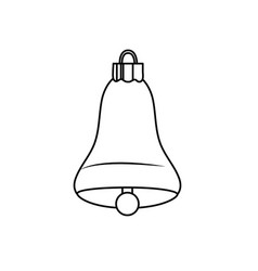 line bell decoration design and alert sound vector image