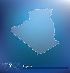 Map of Algeria vector image