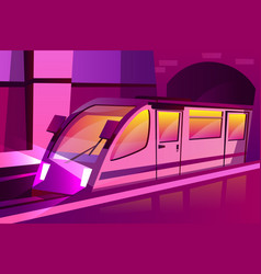 Modern speed subway underground train vector