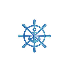 nautical and anchor maritime and seafood vector image