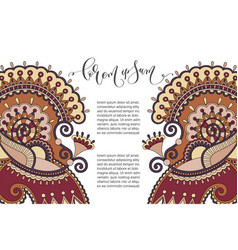 Paisley flower pattern in ethnic style vector