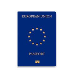 Passport european union vector