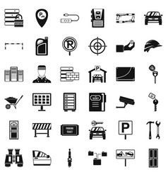 password icons set simple style vector image