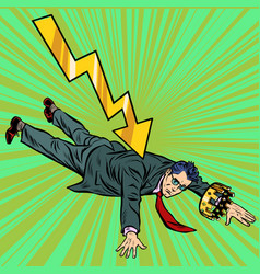 policies falling of a rating authoritarian vector image