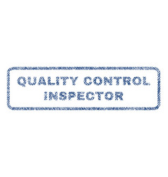 Quality control inspector textile stamp vector