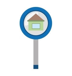 Real estate house sign road vector