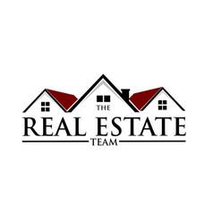 Real estate logo designs simple ad modern vector