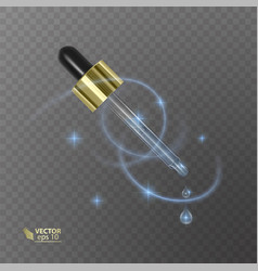 Realistic pipette on the transparent background vector