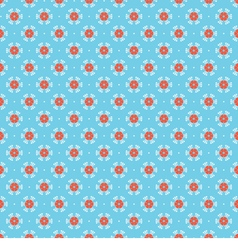 Red And Blue Oriental Vintage Style Background vector image