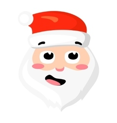 Santa Claus isolated on white Cartoon vector image