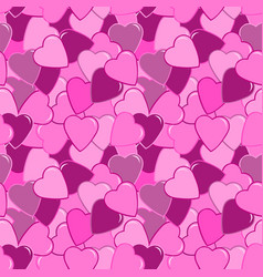 seamless pink heart pattern vector image
