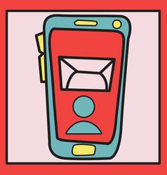 Smartphone notification flat icon vector