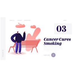smoking addiction bad unhealthy habit website vector image