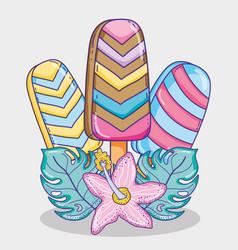 so fresh summer popsicles vector image