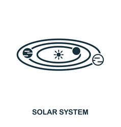 solar system icon flat style icon design ui vector image