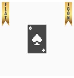 Spades card icon vector image