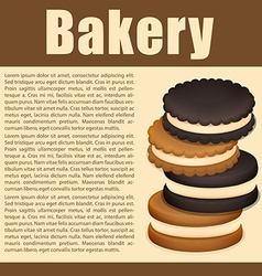 Stack of sandwich cookies and text vector