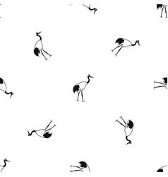stork pattern seamless black vector image