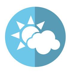 sun cloud weather symbol shadow vector image vector image