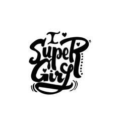 Super girl Calligraphic patch Unique Custom vector