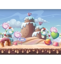 Sweet caramel background vector image