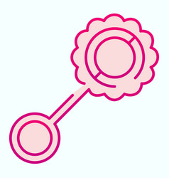 Toy beanbag flat icon child rattle vector