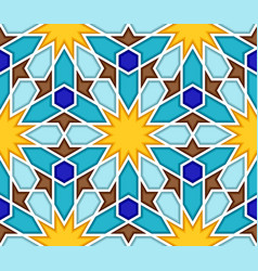 traditional geometric colorful arabic islamic vector image