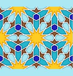 traditional geometric colorful arabic islamic vector image