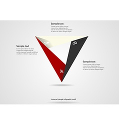 Triangle origami infographic vector