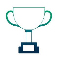 trophy star award prize competition vector image