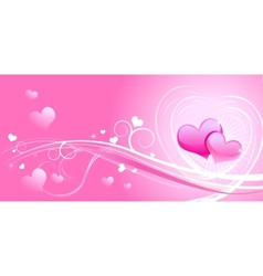 Valentine background wiht hearts vector image