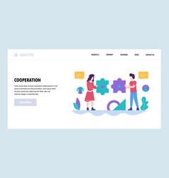 web site design template teamwork vector image