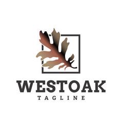 west oak logo design vector image