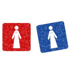 bride grunge textured icon vector image