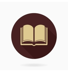 Fine Flat Icon With Book vector image