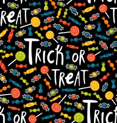 Trick-or-treat pattern vector image vector image