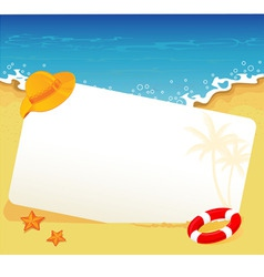 tropic back vector image vector image