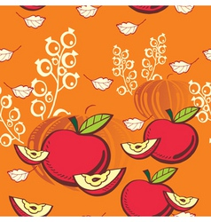 apple and pumpkin vector image vector image