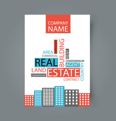 brochure template design concept of architecture vector image vector image