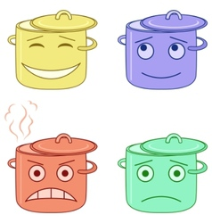 cartoon pans vector image