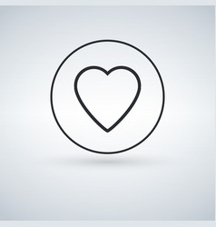 heart icon isolated vector image
