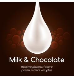 Milk drop and black chocolate wallpaper vector image