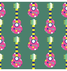 Seamless Guitar pattern vector image