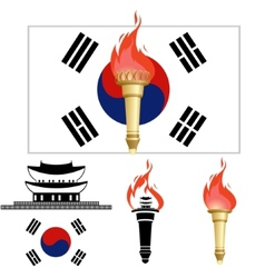 The Olympics in Korea vector image vector image